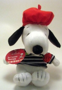 Hallmark Snoopy Plush Vtd5012 Je T'Aime Snoopy Hallmark Valentine Plush