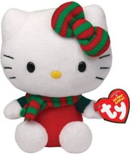 Ty Beanie Babies Hello Kitty - Red Christmas Outfit  - 25 inch