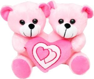 Tabby Toys Cute Teddy Bear Holding Heart  - 22 cm