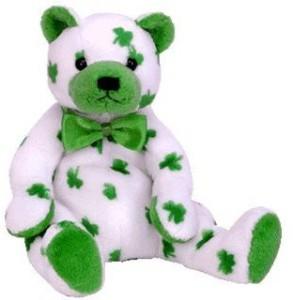 TY Beanie Babies Clover St Patrick'S Day Bear