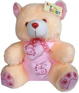 MYBUDDY SWEET PAIR OF HEART TEDDY BEAR  - 50 cm