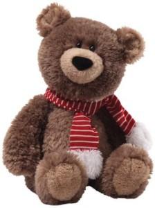 Gund Fun Christmas Snuffy Snuggle Bottoms Bear Medium 18