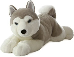 Aurora World Super Flopsie Yukon Husky Dog Plush27
