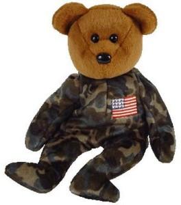 Ty Beanie Babies Hero Usa Bear (Flag On Chest)