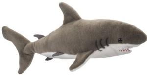 Douglas Cuddle Toys Fin Great White Shark