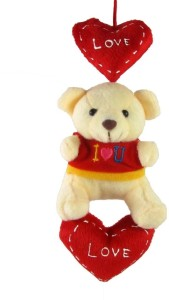 Tickles Teddy with Hanging Heart  - 18 cm