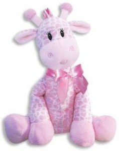 First and Main 9 Inch Giraffe Rattle for Girl/Baby Rattle/Plush Rattle/Baby Shower Gift/Newborn Gift  - 20 inch