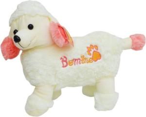 ERABBIT Furry White Puppy with adorable cap  - 30 cm