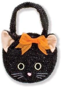 North American Bear Company Goody Bag Black Cat Plush Purse