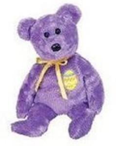 Ty Beanie Ba Eggs 3 The Purple Easter Bear
