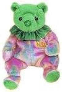 9edd22edb87 Ty Classic Ty Beanie Babies May Birthday Bear Plush Beanbag Green ...