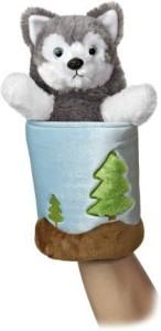 Aurora World Popup Wolf Plush Puppet11