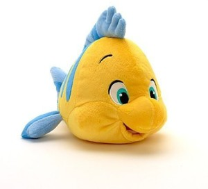 Disney The Little Mermaid: Flounder Plush 10''  - 25 inch