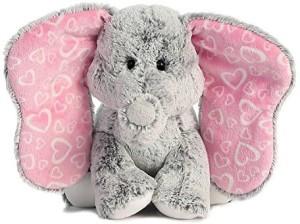 Aurora World Lots Of Love Grey Elephant Plushsmall  - 20 inch