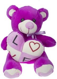 Vpra Mart Purple Cute Love Teddy Bear  - 26 cm