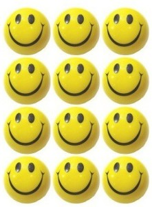 MK Smiley Face Stress Reliever Ball  - 3 inch