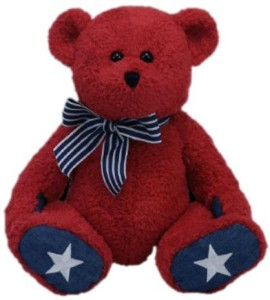 Ty Classic Patriotic Bear in Red 50049