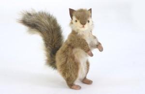Hansa Standing Brownish Grey Squirrel Limited Edition Plush