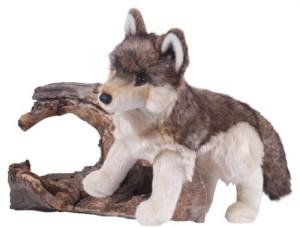 Douglas Cuddle Toys Smoke Wolf 18