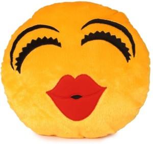 Deals India Kiss Soft Kiss Smiley Cushion  - 35 cm