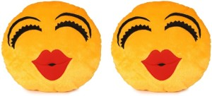 Deals India Deals India Kiss Smiley Cushion - 35 cm(smiley3&3)Set of 2  - 35 cm