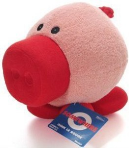 Somewhere City Oink Le Rouge Large Pig Plush 12 Inches