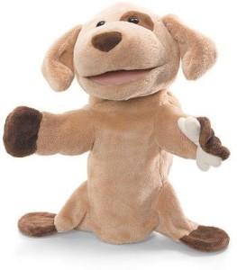 Gund Playful Puppets No Bones About It Brown Dog 12