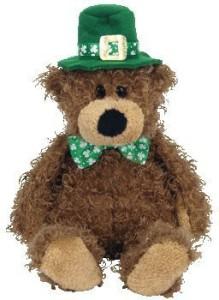 Ty Beanie Babies Lucky O'Day Irish Bear