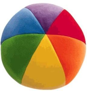 Gund Colorfun Ball - Primary  - 25 inch