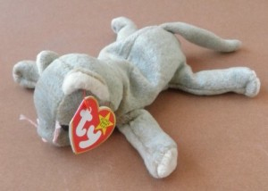 G15094839 Ty Beanie Babies Scat The Cat Plush Animal