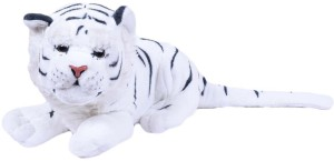 Planet of Toys Soft White Tiger  - 35 cm