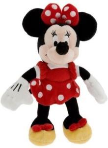 Disney Minnie Mouse Mini Bean Bag Plush Red Dress