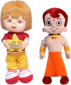 Bubble Hut Chhota Bheem(40cm) and Dora Doll Star(50cm) Soft Toy Combo for Kids Boys and Girls  - 50 cm