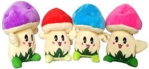 Chinmayi Small Four Mushroom Soft Toy  - 20 cm