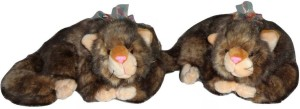Cuddles Lovely looking Realistic Persian Cat Combo  - 38 cm