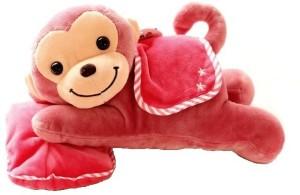 ToynJoy Small Lying Pillow Loganberry Monkey Cute Soft & Plush toy as Gift  - 30 cm