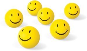 VRV Soft Toys Smiley Face Squeeze Ball Set Of 6  - 8 cm