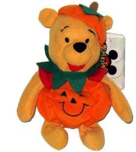 Halloween Plush Disney Pumpkin Pooh Bean Bag