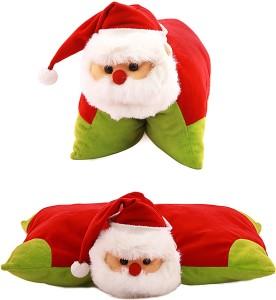 Kuddles Soft Christmas Santa Cushion & Toy  - 20 cm