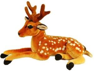 CraftSmith Soft Toy Stuffed Sitting Deer  - 40 cm