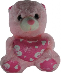 Tickles Teddy With Heart  - 7 inch