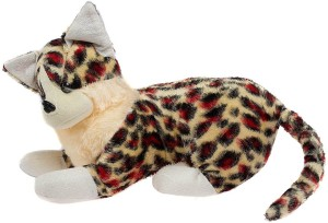 Glitters Red Black Spotted Cat  - 18 cm