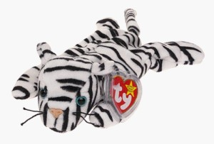 TY Beanie Babies Blizzard The White Tiger