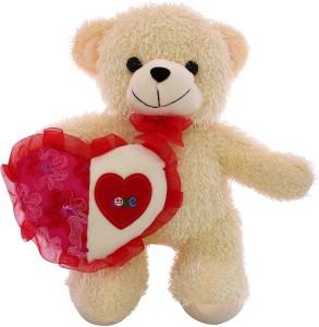 DealBindaas Skoda Bear with Heart Valentine Stuff Soft Toy  - 30 cm