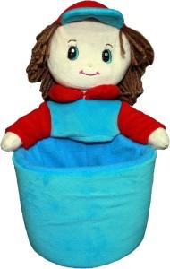 Soft Buddies Kevin Doll Utility Holder - Blue & Red  - 10 inch