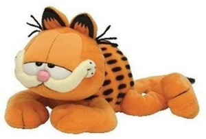 TY Beanie Babies Garfield The Cat (Sleeping Version)