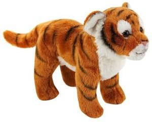 FAO Schwarz 7 Inch Miniature Plush Tiger Orange