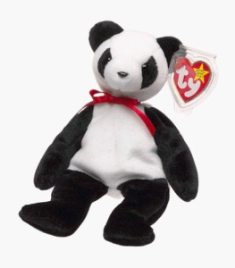 TY Beanie Babies Fortune The Panda Bear Black Best Price in India ... 718cdba4a70a