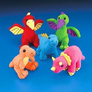 Fun Express Plush Dinosaur Assortment (1 Dozen)