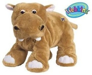 Webkinz Mud Hippo Brown